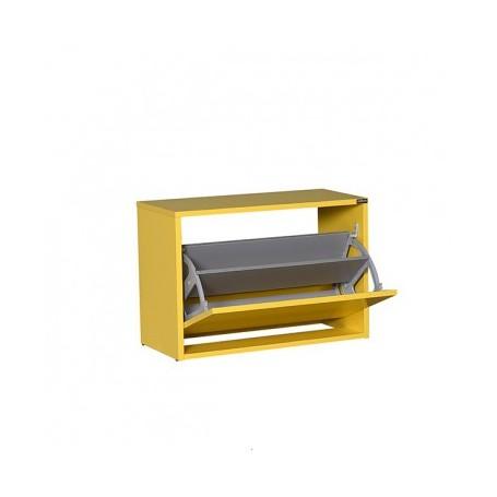 Shoe rack SPIRAL 110 yellow