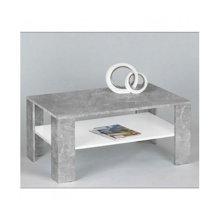 Klubska miza LARS 1 bela + cement