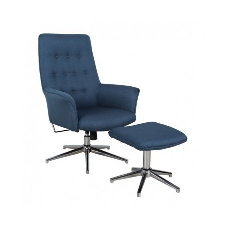 Relax chair MODRI with footstool