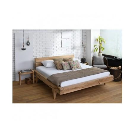 Organska postelja LUXURY 160x200 hrast