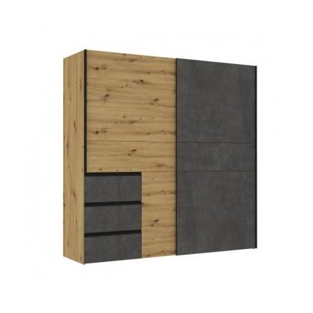 Garderobna omara KILIN hrast + siva