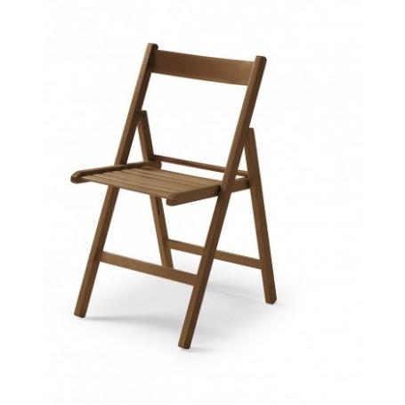 Folding chair CUTE walnut