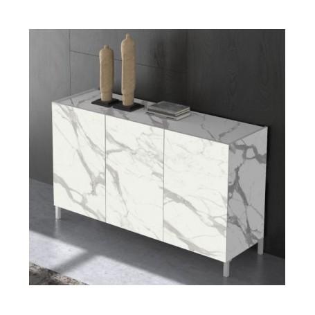 Komoda MIKI 3 bel marmor