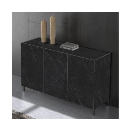 Komoda MIKI 3 črn marmor