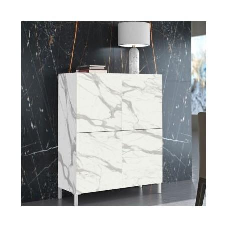 Komoda MIKI 2 bel marmor