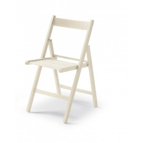 Zložljiv stol CUTE bel