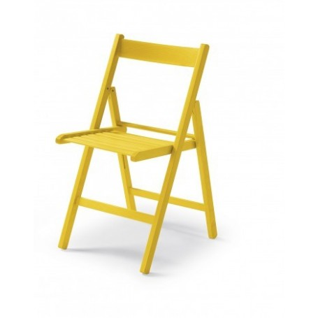 Folding chair CUTE yellow