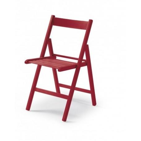 Folding chair CUTE red