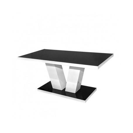 Klubska miza VILIAMA STRONG bela + črna