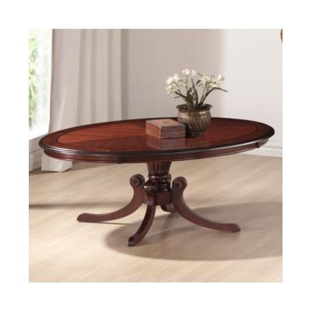 Klubska miza RUSTIKA ovalna