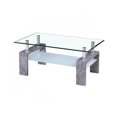 Klubska miza TROX cement