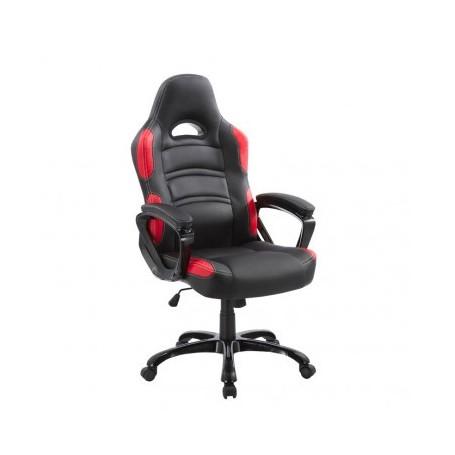 Pisarniški stol VISAM črn+rdeč