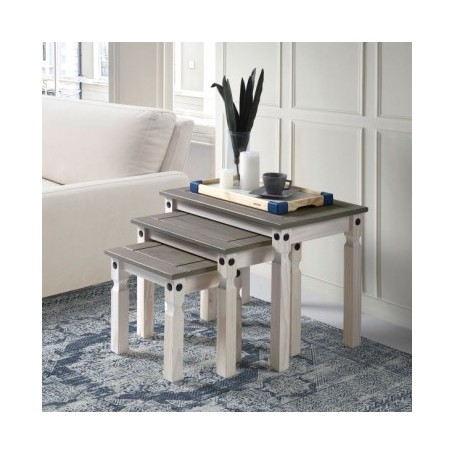 Klubska miza GREY - 3-delni set