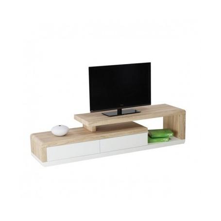 TV komoda MERLO sonoma/bela - 170 cm