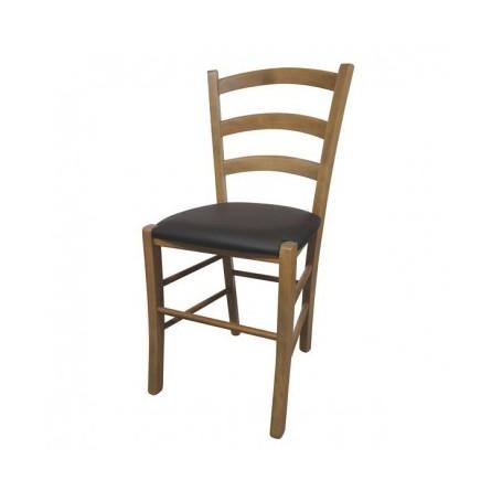 Kitchen chair JISANA PU oak - brown