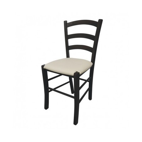 Kitchen chair JISANA PU wenge - beige