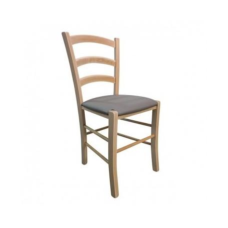Kitchen chair JISANA PU natural - cappuccino