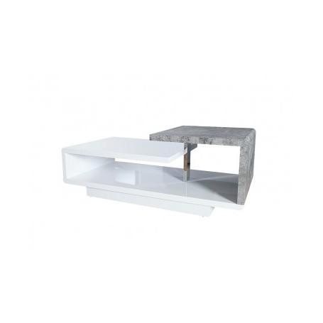 Coffee table LENTI white + cement