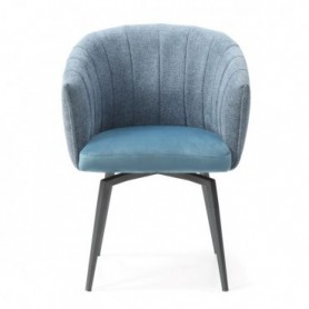 Chair ROUND blue