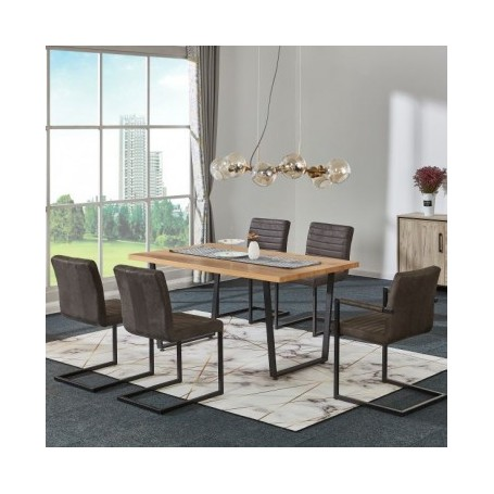 Chair with armrests OLDI 2 brown