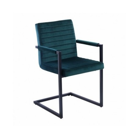Chair with armrests OLDI green