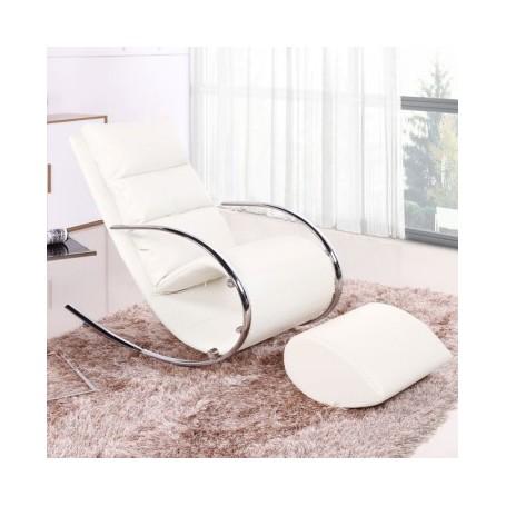 Relax chair SUZANA white PU