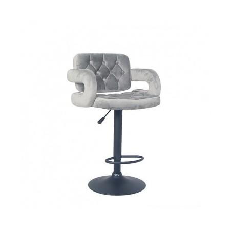 Barski stol LEONA siva